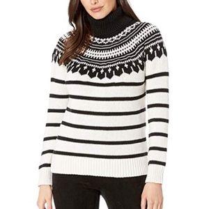 NWT Ralph Lauren Striped Turtleneck Sweater Size M